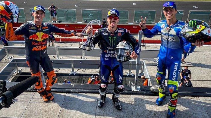 Hasil MotoGP Emilia Romagna, Valentino Rossi Jatuh, Maverick Vinales Juara