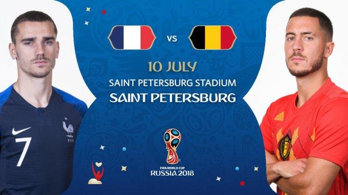 Perancis vs Belgia - Kick Off Pukul 01.00 WIB Rabu Dinihari. Ini Prakiraan Pemain Kedua Tim