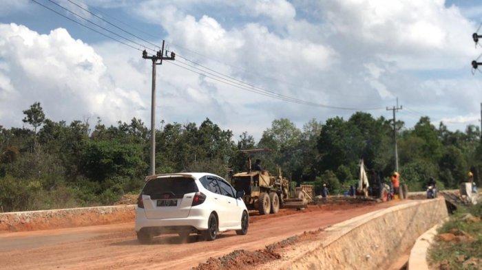 Perbaikan Jalan Raya Tanjunguban Bintan Rawan Banjir Diklaim Sudah 80 Persen