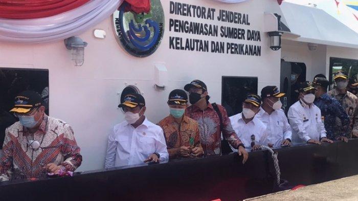 Menteri KKP Sakti Wahyu Trenggono Tambah 2 Kapal Pengawas, Diresmikan di Batam
