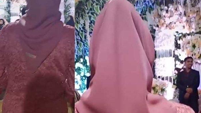 Wanita Jilbab Pink Bikin Geger Dunia Maya, Akta Cerai Sebulan Keluar Tegar Datangi Nikahan Eks Suami