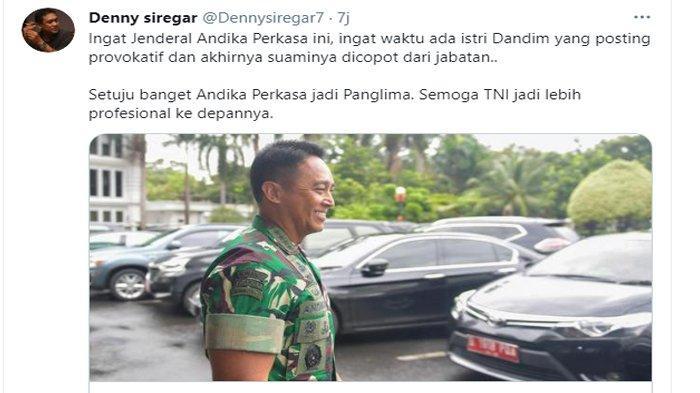 Pernyataan Denny Siregar setuju Jenderal Andika Perkasa jadi Panglima TNI