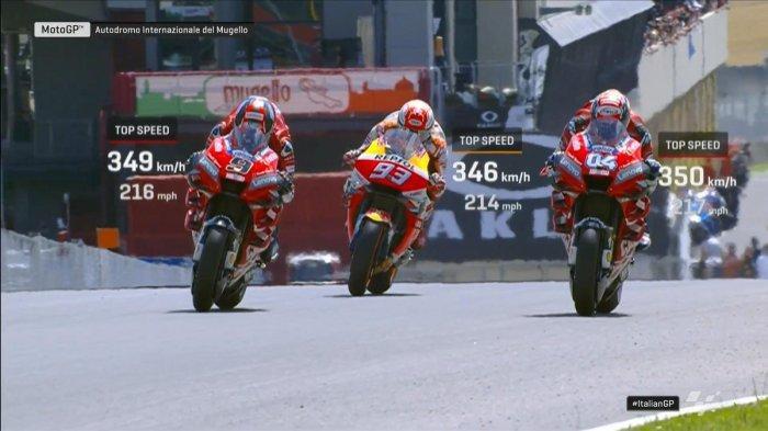 Klasemen MotoGP Setelah Danilo Patrucci Juara MotoGP Italia, Marquez Tetap, Valentino Rossi Turun