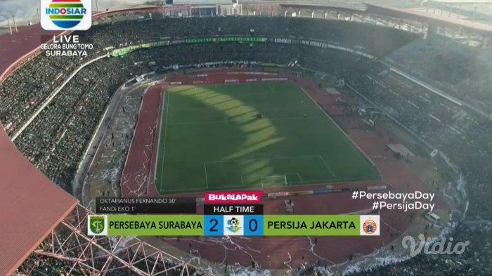 Hasil Babak 1 Persebaya vs Persija - Bajul Ijo Sementara Unggul 2-0 atas Macan Kemayoran