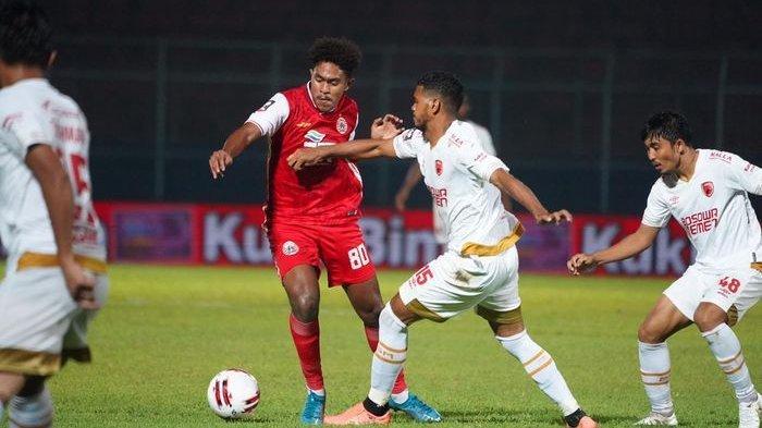 PIALA MENPORA 2021 - Pemain Persija Jakarta Braif Fatari, di laga lawan PSM Makassar di Piala Menpora 2021, di Stadion Kanjuruhan, Malang, Jawa Timur, pada Senin (22/3/2021)