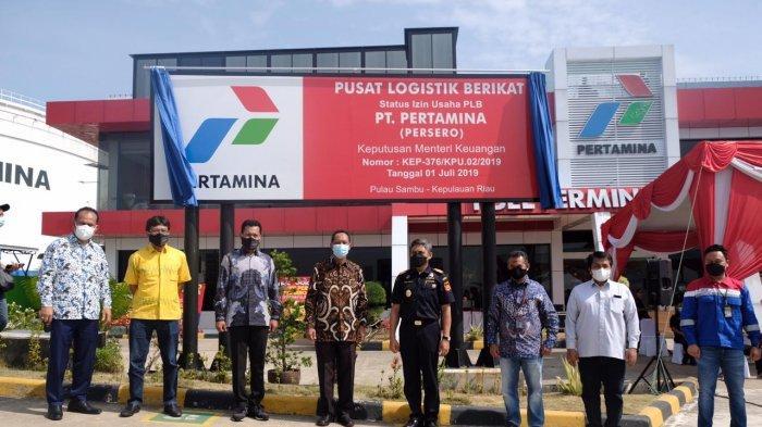 Pertamina bersama Bea Cukai Batam merayakan ekspor perdana BBM rendah sulfur (Low Sulphur Fuel Oil) dari Pusat Logistik Berikat Terminal BBM Pulau Sambu secara seremonial, Jumat (11/12/2020)