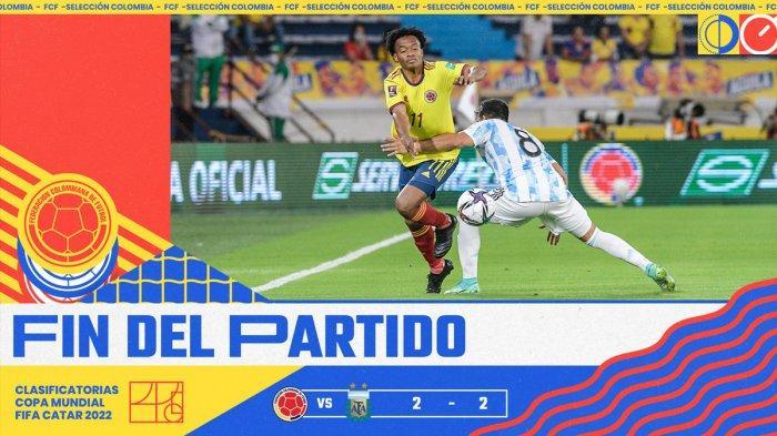 Hasil Kolombia vs Argentina, Gol Miguel Borja di Ujung Laga Pupus Keunggulan Argentina, Skor Seri