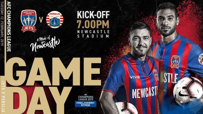 Jadwal Newcastle Jets vs Persija Jakarta, Selasa Sore Ini Kick Off Jam 15.00 WIB