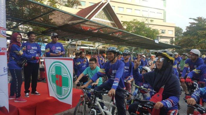 Peringati Hari Kemerdekaan, RSAB Gelar Kegiatan Gowes sepanjang 17 KM Diikuti Komunitas Sepeda