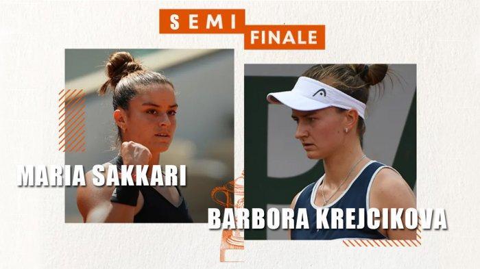 Semifinal Prancis Open 2021, 20.00 WIB: Sakkari vs Krejcikova, 21.30 WIB: Pavlyuchenkova vs Zidansek