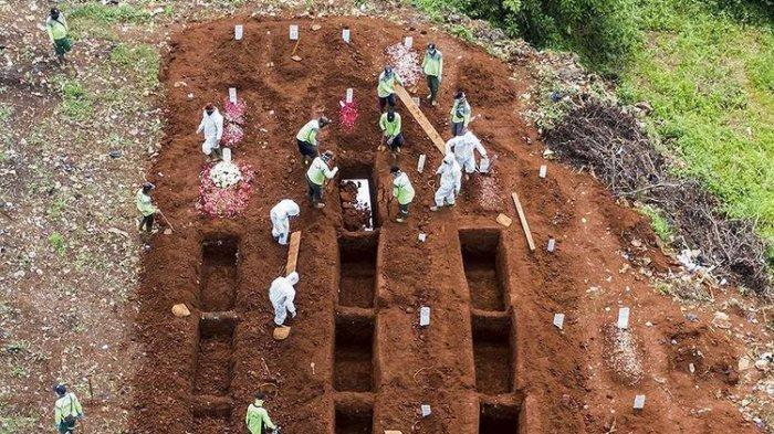 Lahan Baru di TPU Pondok Ranggon Terpakai, 900 Jenazah Dimakamkan dengan Protap Covid-19