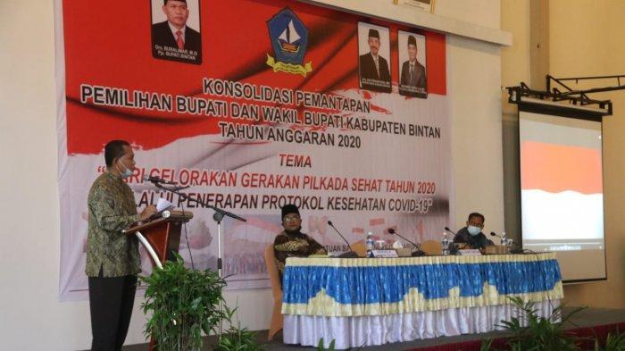 Pjs Bupati Bintan Ingatkan Protokol Kesehatan di Pilkada Bintan, 'Jangan ada Klaster Corona Baru'