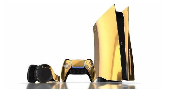 PlayStation 5 dengan Desain Emas 24 Karat Bakal Dirilis, Ini Penampakannya