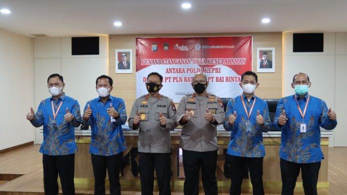 bright PLN Batam MoU dengan Polda Kepri Soal Pengamanan Instalasi dan Aset Ketenagalistrikan