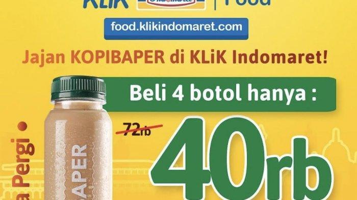Selama Agustus, Point Coffee Tawarkan Empat Botol Kopi Baper seharga Rp40 ribu.