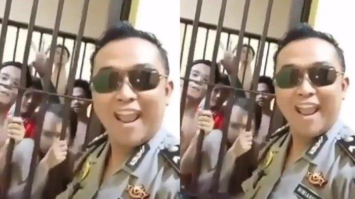 Ampun DJ, Polisi Ganteng Ini Pamer Videonya Joget Bareng Penghuni Tahanan