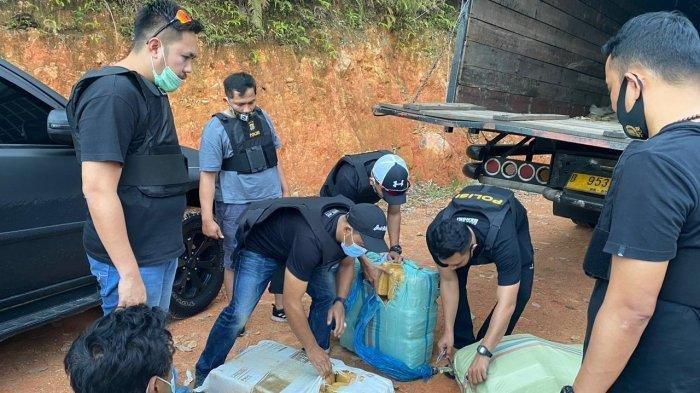 Penyeludupan 7 Karung Ganja Kering Dibongkar Polisi, Mereka Merupakan Jaringan Lintas Sumatra