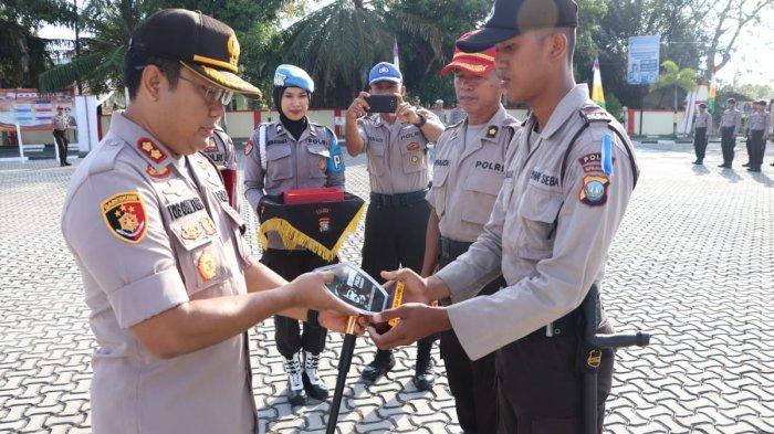 Polres Karimun Terima 35 Siswa SPN Polda Kepri Latihan Kerja, Ini Pesan Kapolres Yos Guntur