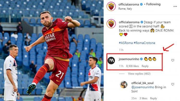 AS Roma Pesta 5 Gol vs Crotone, Jose Mourinho Tepuk Tangan, Fonseca: Kami Berdua Orang Portugis