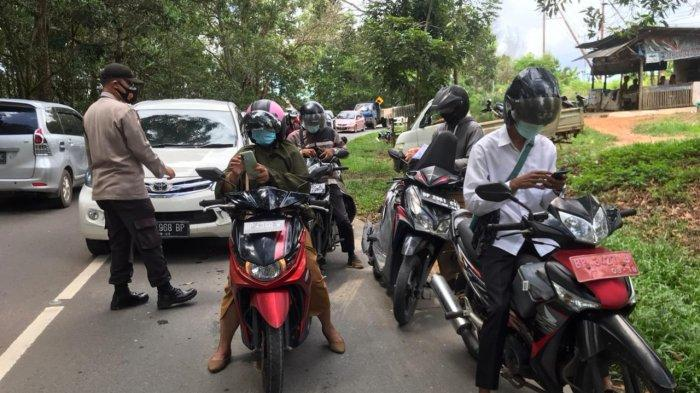 PPKM Darurat Tanjungpinang, Petugas Jaga Ketat Jalan Penghubung dari Bintan