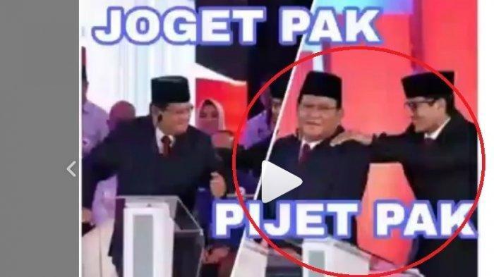 VIRAL DI MEDSOS - Video Detik-detik Prabowo Berjoget saat Debat Capres Lalu Punggungnya Dipijat