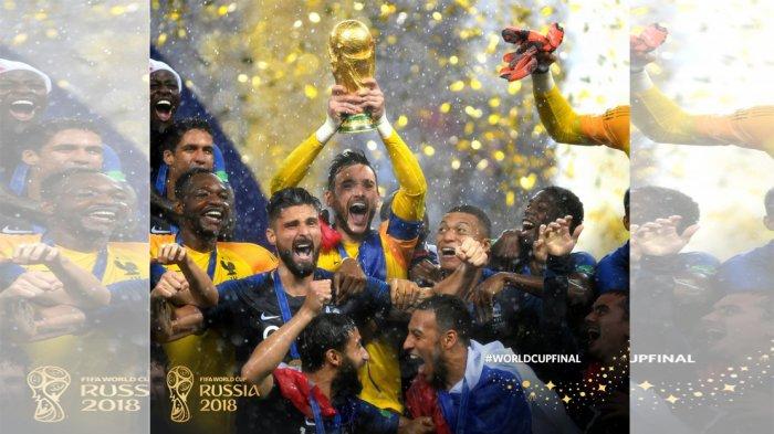 Prancis Juara Piala Dunia 2018 - Ini Para Pemain yang Raih Penghargaan. Modric dan Mbappe Terbaik