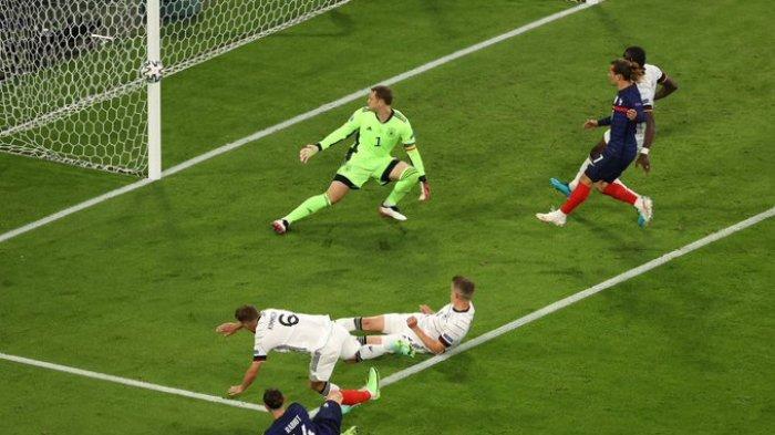 EURO 2020 - Timnas Prancis mampu mengungguli timnas Jerman dalam laga perdana Grup F EURO 2020, Selasa (15/6/2021) waktu setempat atau Rabu pukul 02.00 WIB.
