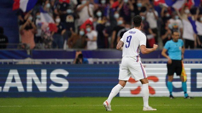 Hasil Prancis vs Bulgaria, Olvier Giroud Cetak 2 Gol, Antoine Griezmann 1 Gol, Prancis Menang