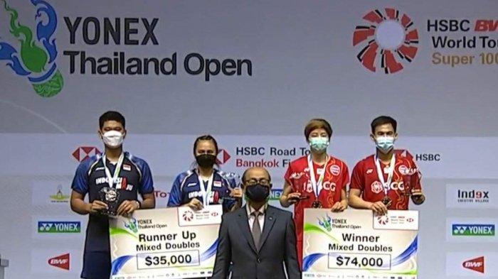Hasil Final Yonex Thailand Open, Praveen/Melati Kalah, Dechapol/Sapsiree Juara Ganda Campuran