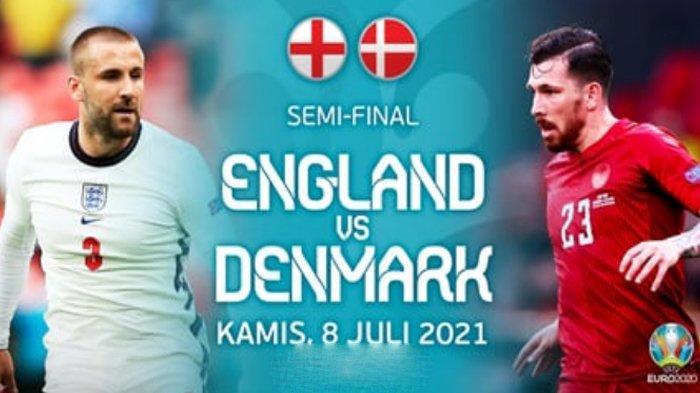 Live Streaming Inggris vs Denmark di Semifinal Euro 2020 Malam Ini, Kick Off 02.00 WIB