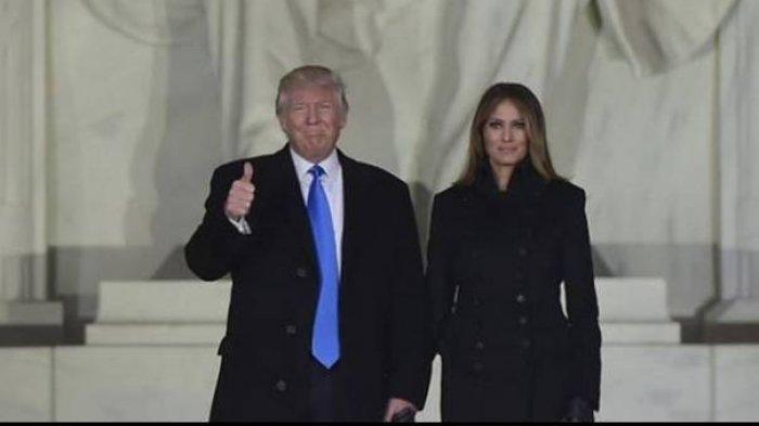 Presiden Amerika Serikat Donald Trump dan Istri Melania