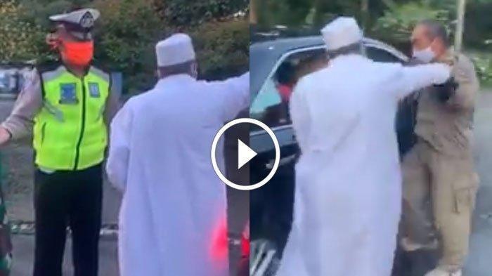 Viral Pria Bergamis Putih Cekcok dengan Petugas PSBB Surabaya, Mobil Milik Umar Abdullah Assegaf