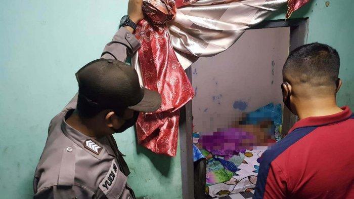 Ilustrasi proses evakuasi seorang pria yang tewas di lokasilisasi Kilometer 15 Tanjungpinang, beberapa waktu lalu.