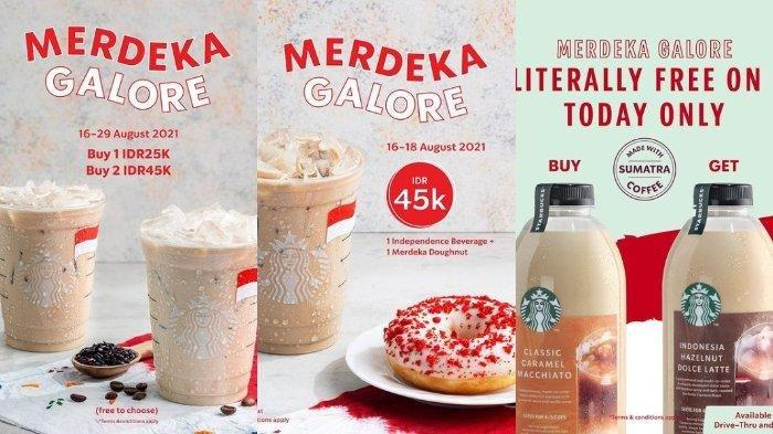 Promo HUT Kemerdekaan ke-76 RI dari Starbucks.