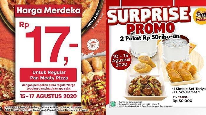Promo HUT Kemerdekaan 2020, Mulai dari Pizza Hut, Burger King hingga Hoka-hoka Bento