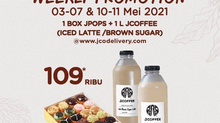 Promo JCO Hari Selasa 11 Mei 2021, Bayar Rp 109 Ribu Dapat 1 Box JPOPS dan 1 Liter JCOFFEE
