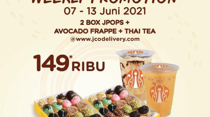 Promo JCO Hari Minggu 13 Juni 2021, 2 Box JPOPS Plus 2 Minuman Cukup Bayar Rp 149 Ribu