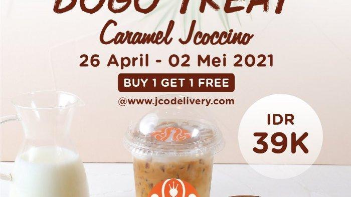 Promo JCO Hari Minggu 2 Mei 2021, Beli 2 Caramel Jcocinno Bayar Rp 39 Ribu, Diskon Merchandise