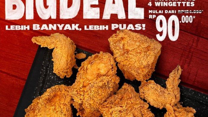 Promo KFC dari Tanggal 24-28 Februari 2021, Dapatkan 13 Potong Ayam Seharga Rp 90 Ribu