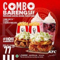 Promo KFC Hari Ini, Combo Barengsay Cuma Rp 77 RIbu, Berlaku 12-14 Februari