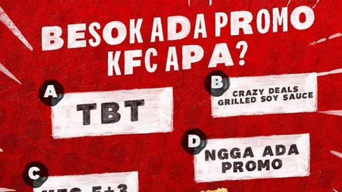 Promo KFC hari Kamis 1 Juli 2021.
