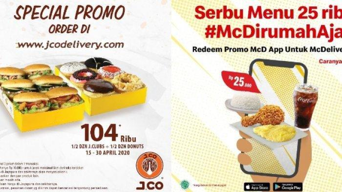 Mc Donalds hingga Pizza Beri Promo untuk April 2020, Spesial Di Rumah Aja Cegah Corona
