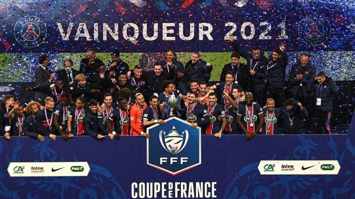 Hasil Final Piala Prancis AS Monaco vs PSG, Mauro Icardi & Kylian Mbappe Cetak Gol, PSG Juara