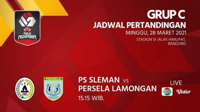 Jadwal Piala Menpora 2021 Live Indosiar PSS Sleman vs Persela, Madura United vs Persebaya