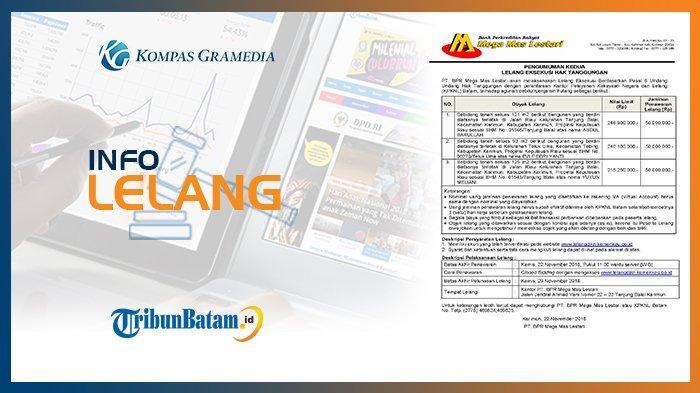 Informasi Pengumuman Lelang PT. BPR Mega Mas Lestari 8 November 2018