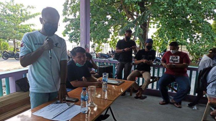 Ketua ESI Anambas, Ramadan saat membuka turnamen PUBG Mobile di Tanjung Momong, Kecamatan Siantan, Anambas.