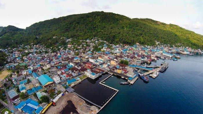 Tampilan Pulau Tarempa saat difoto di ketinggian