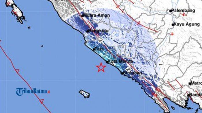 GEMPA HARI INI Gempa 4.8 SR Guncang Bengkulu, Minggu, Tak Berpotensi Tsunami, Simak Info BMKG
