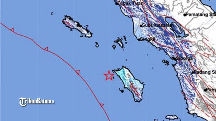 Gempa Hari Ini, Gempa 5,0 SR Guncang Nias Utara Rabu (8/7) 11.03 WIB, BMKG: Tidak Berpotensi Tsunami
