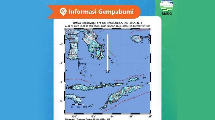 GEMPA HARI INI, Gempa 6,9 SR Guncang Larantuka NTT Jumat Pagi, BMKG: Tidak Berpotensi Tsunami
